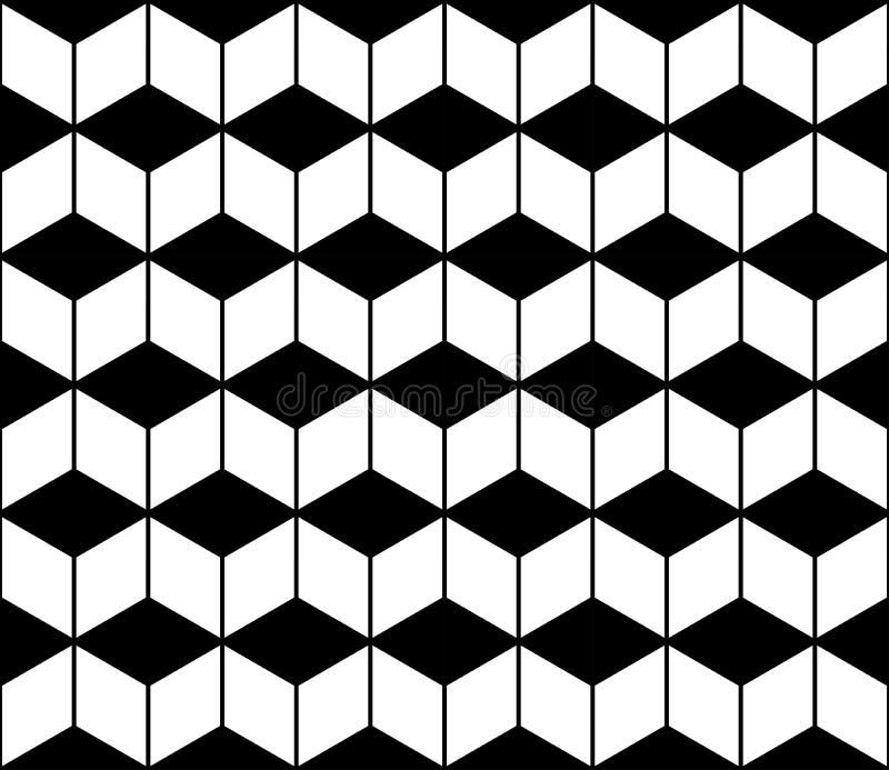 Vector el galón inconsútil moderno del modelo de la geometría, extracto blanco y negro ilustración del vector