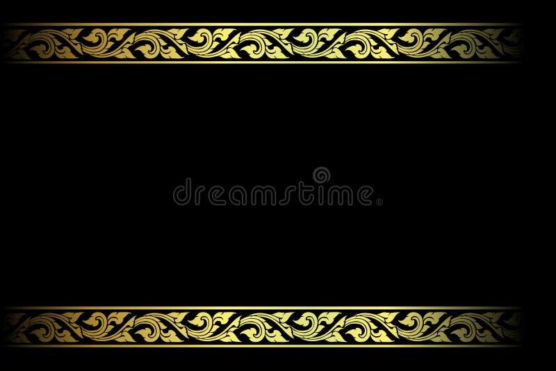 Vector el grabado del marco de la frontera del vintage con el ejemplo retro del vector del ornamento stock de ilustración