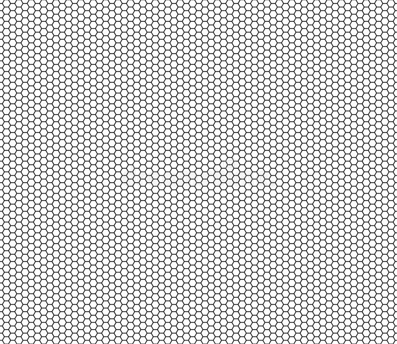 Vector el hexágono inconsútil moderno del modelo de la geometría, fondo geométrico abstracto blanco y negro stock de ilustración