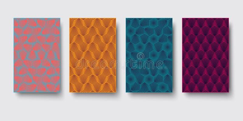Vector el hexágono moderno del modelo de la geometría, fondo geométrico del extracto, impresión de moda, textura retra monocromát ilustración del vector