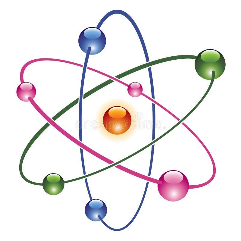 vector el icono abstracto del átomo stock de ilustración