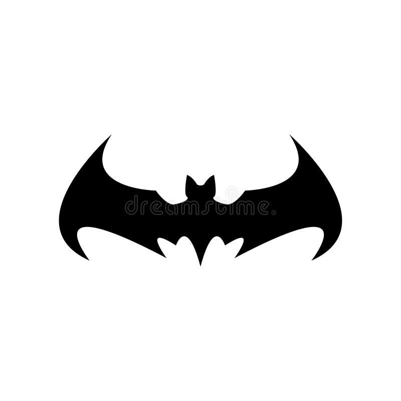 Vector el icono animal o la muestra del palo negro de Halloween aislada en el fondo blanco silueta del palo del vector con las al libre illustration