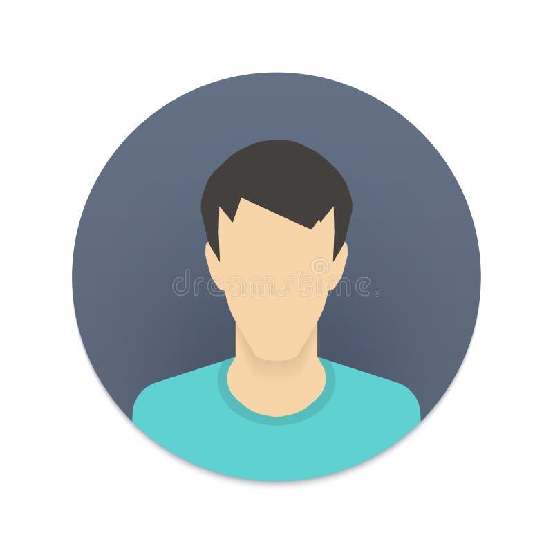 Vector el icono del avatar del usuario para el sitio web o el móvil stock de ilustración