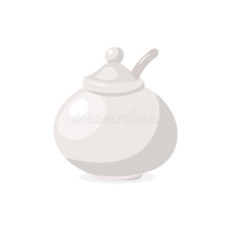 Vector el icono del azúcar-lavabo aislado en el fondo blanco stock de ilustración