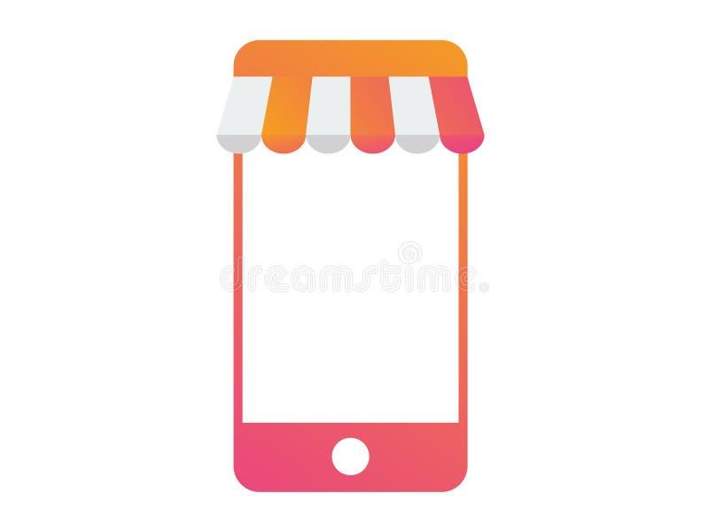 Vector el icono elegante de la plantilla del negocio de la tienda móvil del teléfono libre illustration