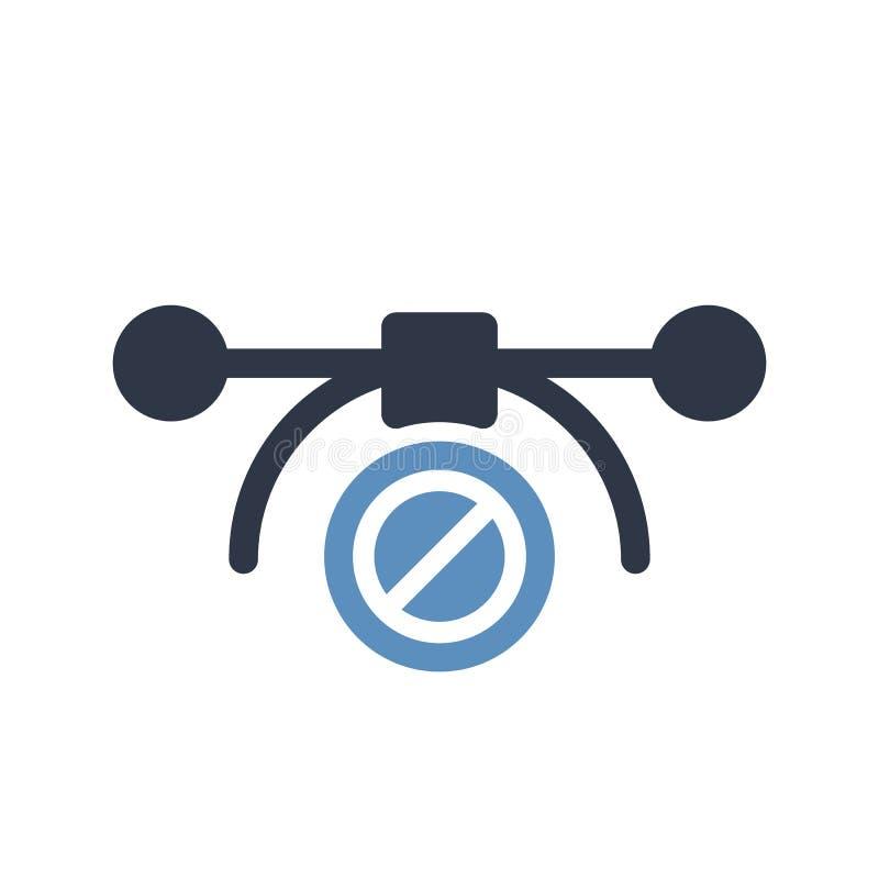 Vector el icono más bezier, icono de las multimedias con la muestra no permitida El icono más bezier y el bloque del vector, proh ilustración del vector