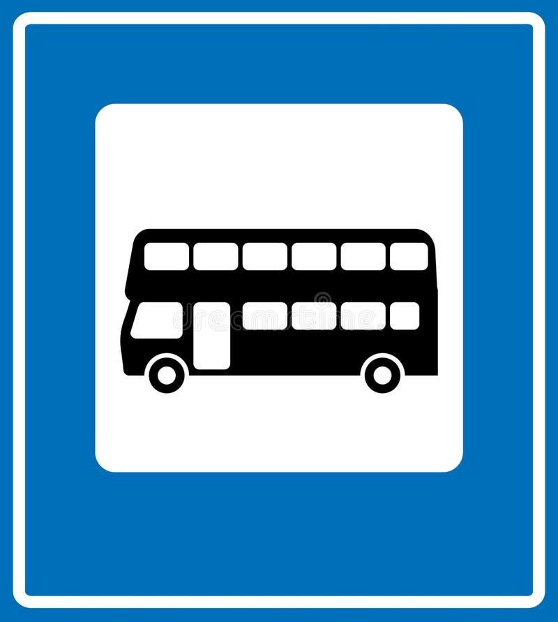 Vector el icono negro del autobús de Londres en el fondo blanco stock de ilustración