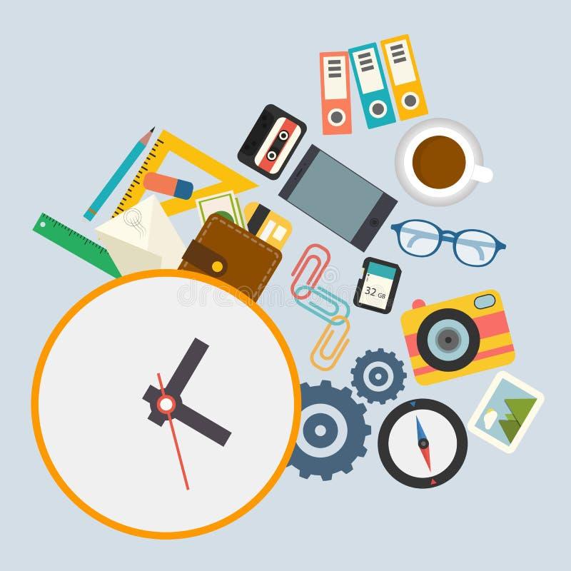 Vector el infographics horario de trabajo en la oficina for Horario oficina de empleo