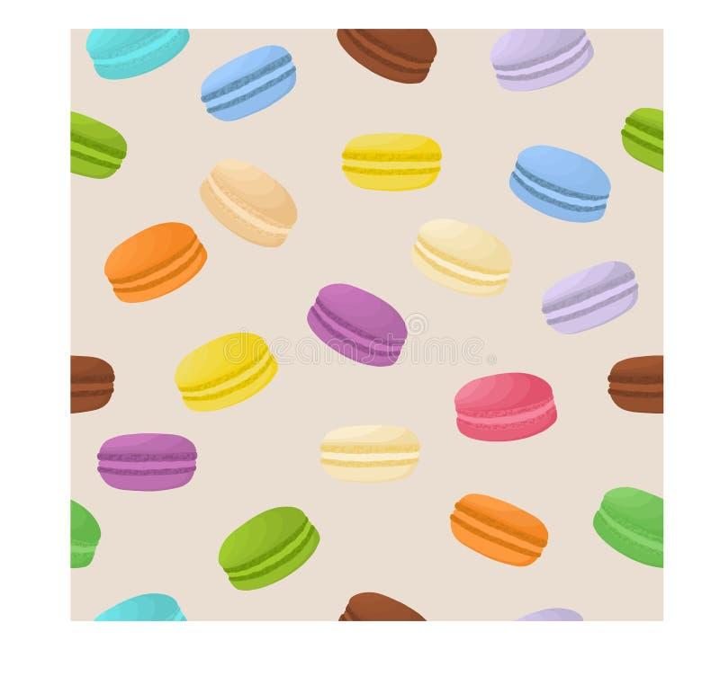 Vector el logotipo del ejemplo del icono para los macarons coloridos de la pila libre illustration