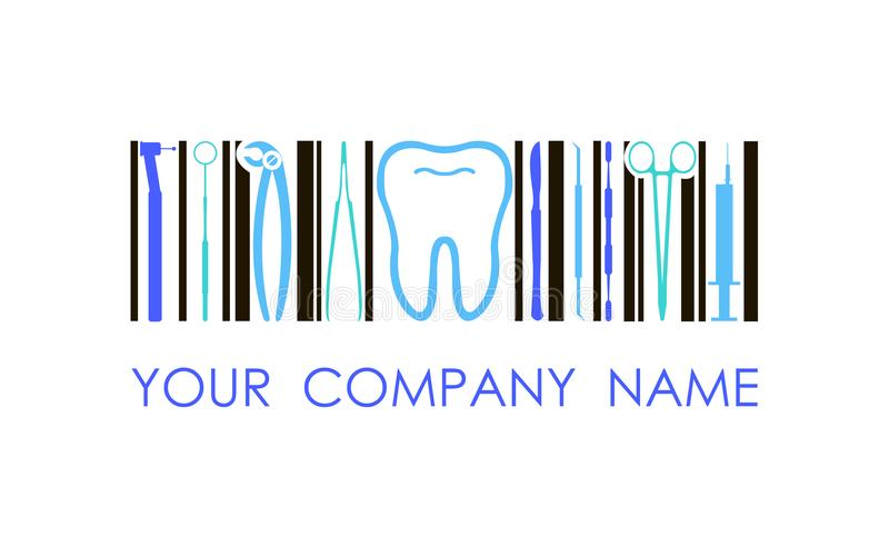Vector el logotipo para la compañía dental, clínica, oficina Logotipo del concepto fotografía de archivo libre de regalías