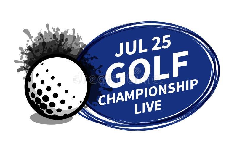 Vector el lugar del fondo del proyector del marcador del deporte del golf para el anuncio del texto de la copia Bandera, aviador, stock de ilustración