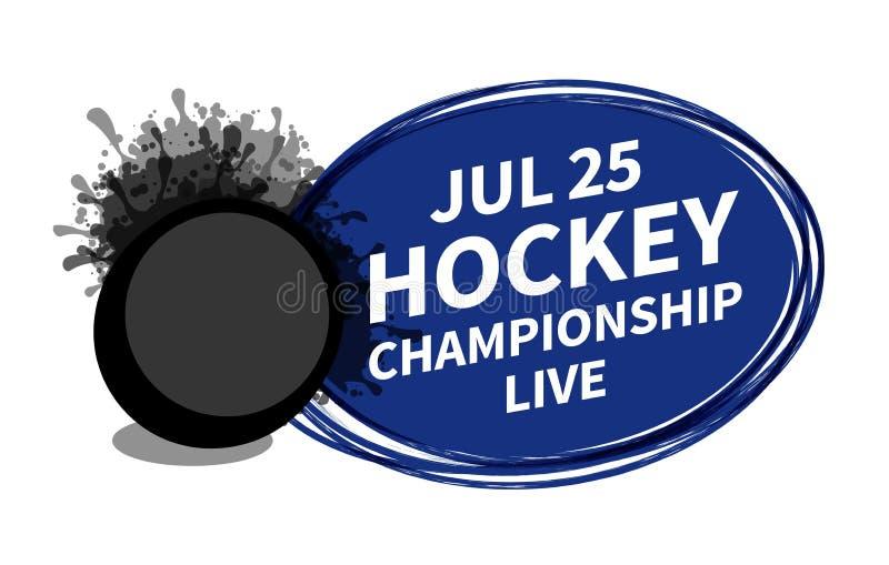 Vector el lugar del fondo del proyector del marcador del deporte del hockey sobre hielo para el anuncio del texto de la copia Ban libre illustration