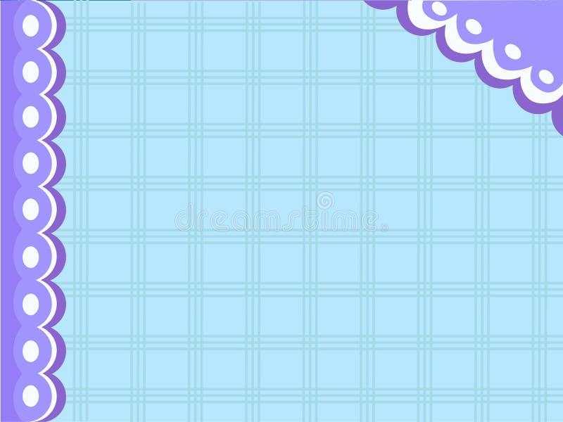 Vector el mantel azul para la endecha o la plantilla c de saludo del plano del marco ilustración del vector