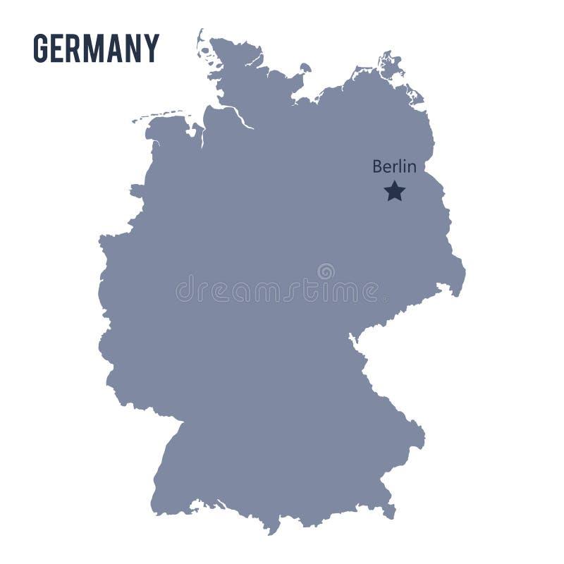 Vector el mapa de Alemania aisló en el fondo blanco stock de ilustración