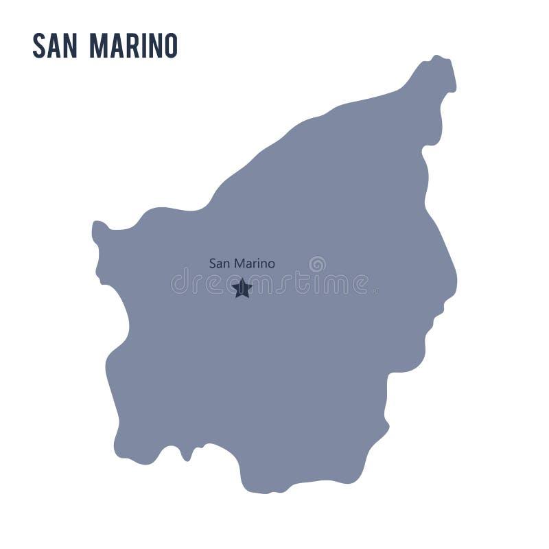 Vector el mapa de San Marino aisló en el fondo blanco stock de ilustración