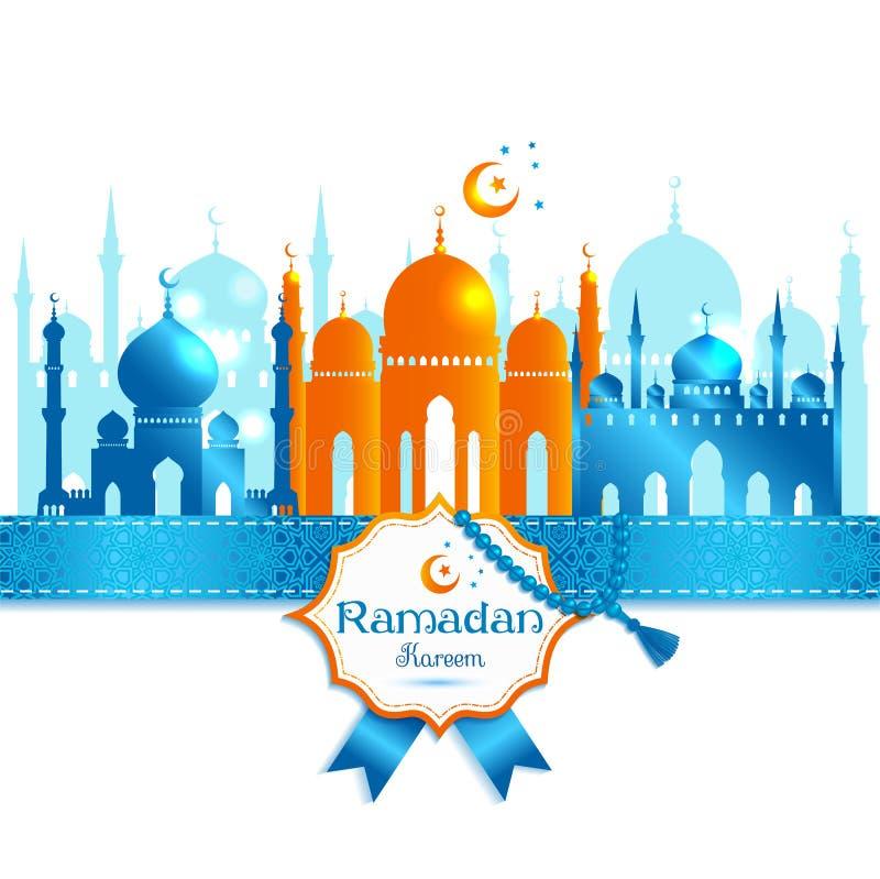 Vector el marco árabe del kareem del Ramadán del ejemplo, celebrat del diseño stock de ilustración
