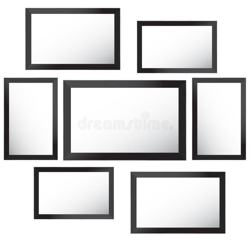 Vector el marco para las fotos y las imágenes, collage de la foto, rompecabezas de la foto Presentación de marcado en caliente de libre illustration