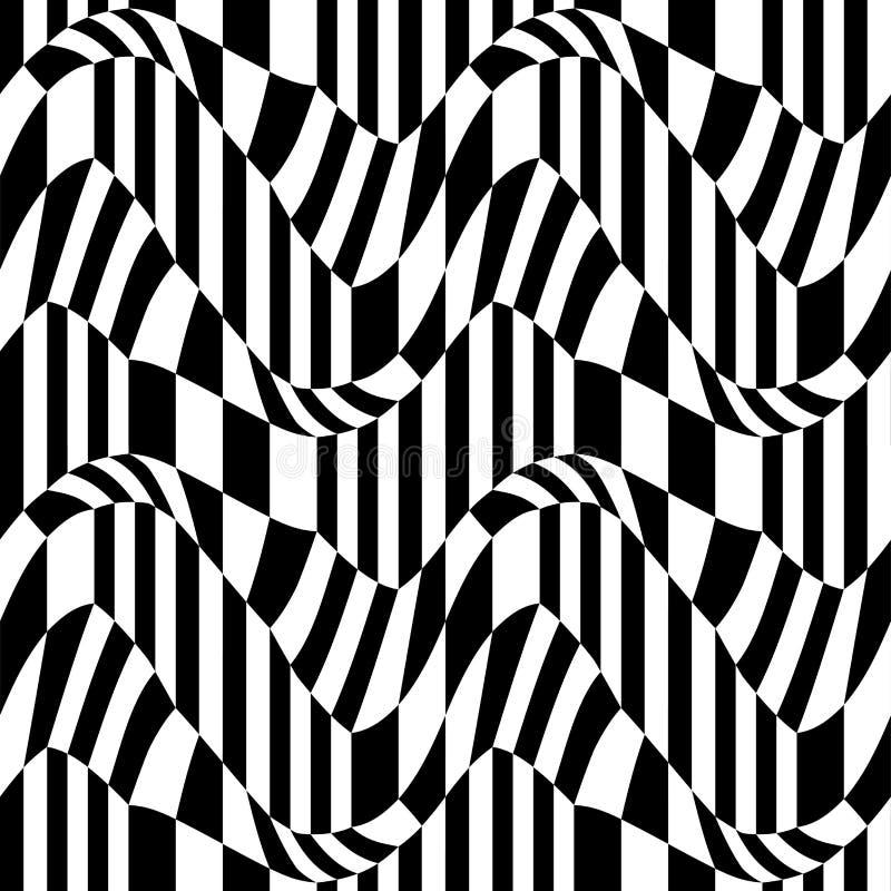 Vector el modelo abstracto de la geometría del inconformista, el fondo geométrico inconsútil blanco y negro, la almohada sutil y  libre illustration