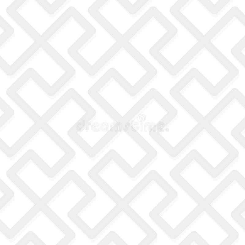 Vector el modelo abstracto geométrico - tribal simple inconsútil gris stock de ilustración