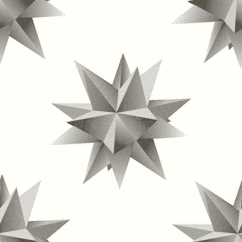 Vector el modelo abstracto inconsútil con el polígono punteado en un fondo blanco libre illustration