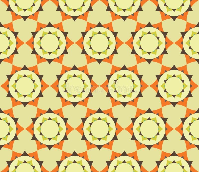 Vector el modelo colorido inconsútil moderno de la mandala de la flor del pétalo de la geometría, extracto del color ilustración del vector