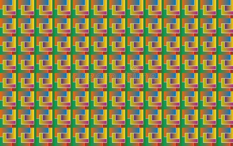 Vector el modelo del fondo del ejemplo de formas geométricas con pendiente bajo la forma de tetris ilustración del vector