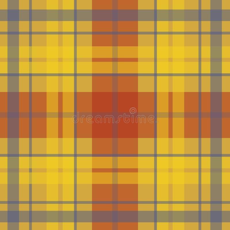 Vector el modelo escocés inconsútil del tartán en amarillo, rojo, púrpura ilustración del vector