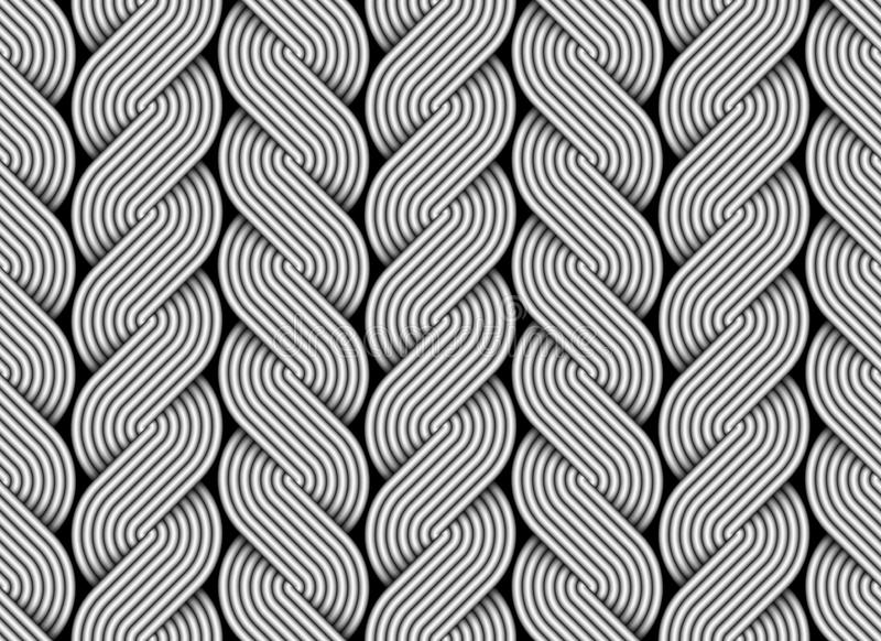 Vector el modelo inconsútil de alambres cruzados como trenzas libre illustration