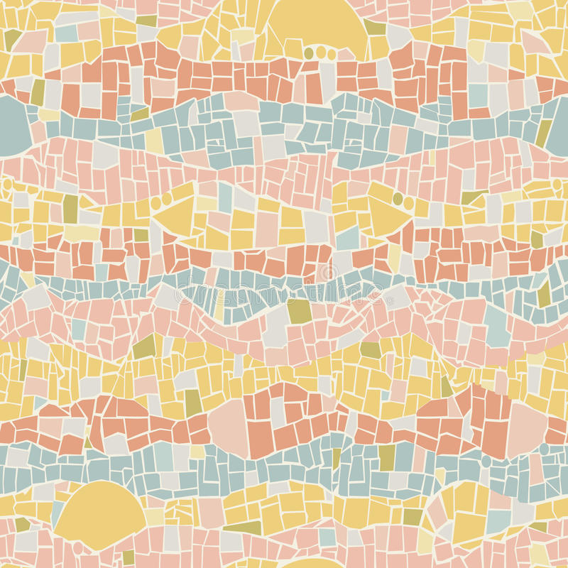 Vector el modelo inconsútil de la textura de mosaico en estilo del vintage libre illustration
