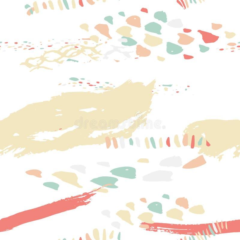 Vector el modelo inconsútil del boho con las líneas intrépidas adentro libre illustration