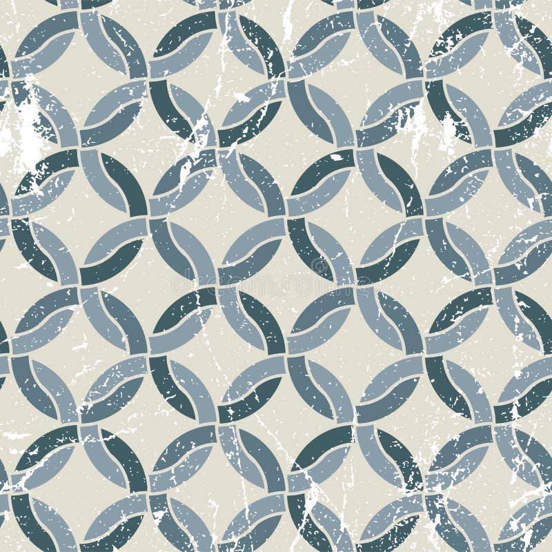 Vector el modelo inconsútil del extracto geométrico de la materia textil, batalla manchada stock de ilustración
