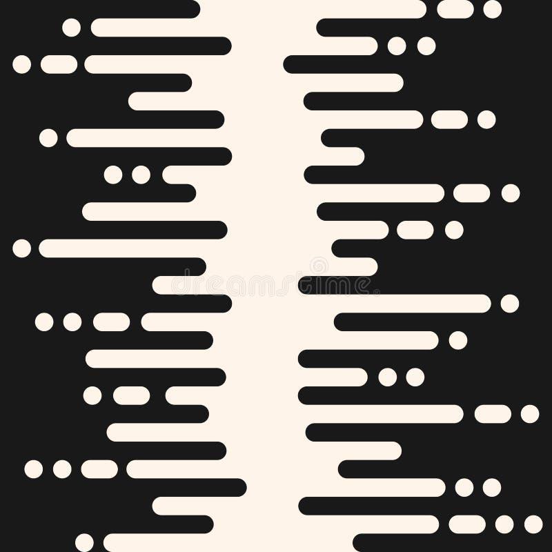 Vector el modelo inconsútil, el dyna de semitono de la transición, negro y blanco libre illustration