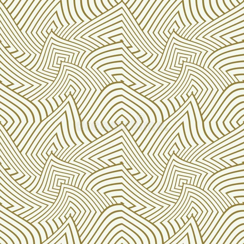 Vector el modelo inconsútil ilusorio geométrico, COM sin fin abstracta ilustración del vector