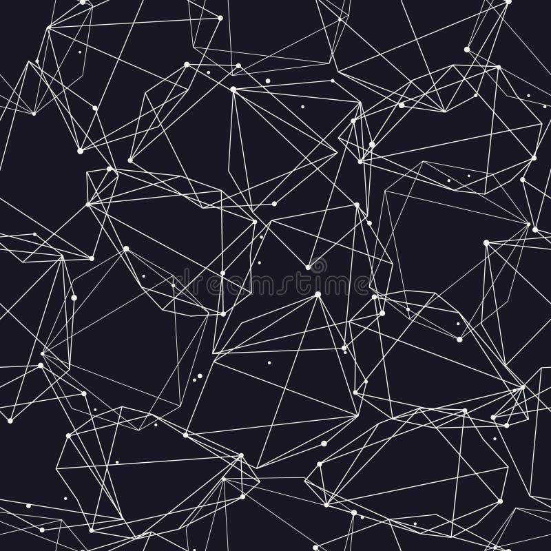 Vector el modelo inconsútil moderno con las líneas y los círculos ilustración del vector