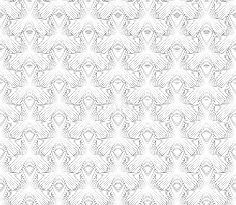 Vector el modelo inconsútil moderno del tessellation de la geometría, g abstracto libre illustration
