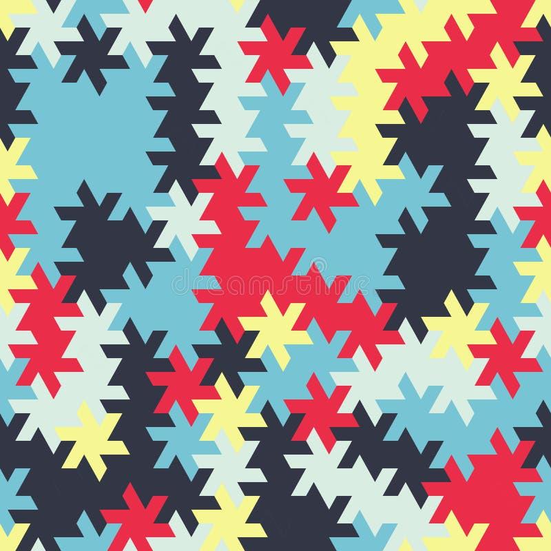 Vector el modelo inconsútil moderno del tessellation de la geometría, g abstracto stock de ilustración