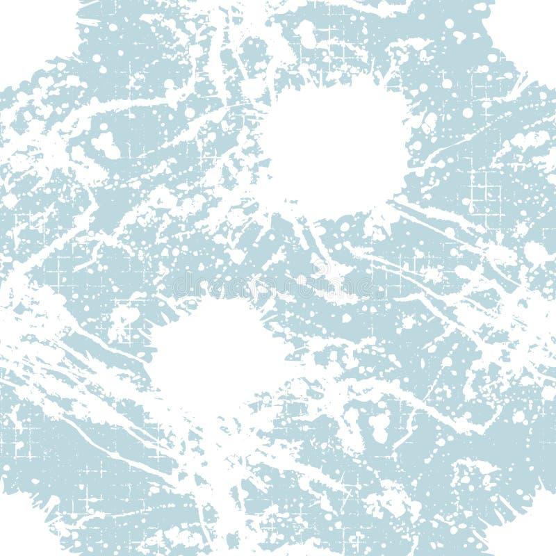 Vector el modelo inconsútil, téjelo con el chapoteo del inc., las manchas blancas /negras, la mancha y los movimientos del cepill ilustración del vector