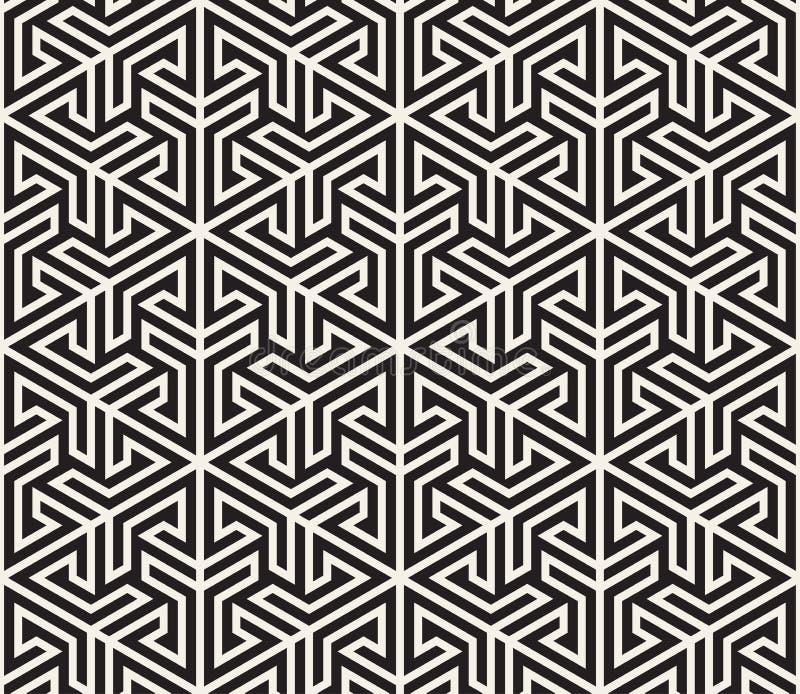 Vector el modelo inconsútil Textura abstracta elegante moderna Repetición del embaldosado geométrico de elementos rayados foto de archivo