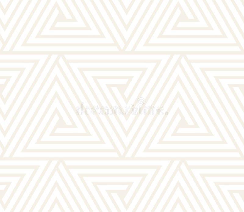 Vector el modelo inconsútil Textura abstracta elegante moderna Repetición del embaldosado geométrico de elementos rayados ilustración del vector