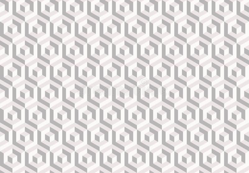 Vector el modelo inconsútil textura con estilo moderna Repetición de las tejas geométricas ilustración del vector