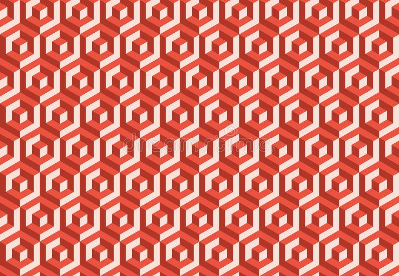 Vector el modelo inconsútil textura con estilo moderna Repetición de las tejas geométricas stock de ilustración