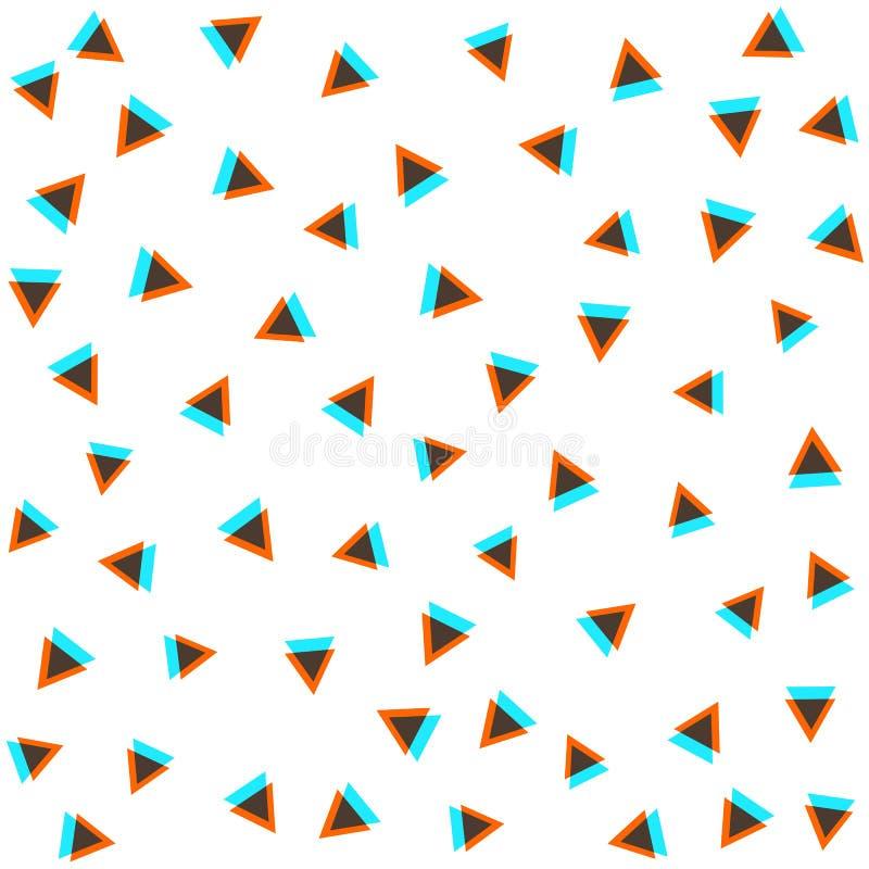 Vector el modelo inconsútil textura con estilo moderna Repetición de las tejas geométricas Composición de triángulos libre illustration
