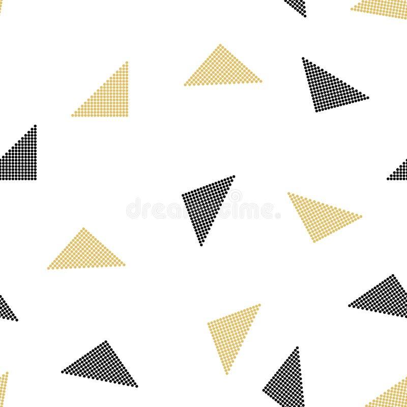 Vector el modelo inconsútil textura con estilo moderna Repetición de las tejas geométricas con los triángulos punteados Ilustraci stock de ilustración