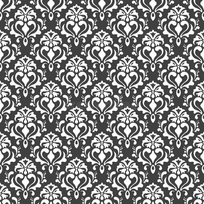 Vector el modelo inconsútil textura con estilo moderna Repetición del fondo geométrico Colores blancos y negros Papel pintado par imagenes de archivo
