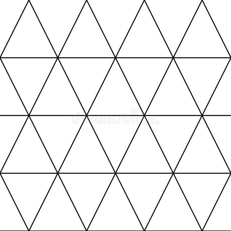 Vector el modelo inconsútil Textura elegante moderna con enrejado monocromático Repetición de rejilla triangular geométrica gráfi stock de ilustración