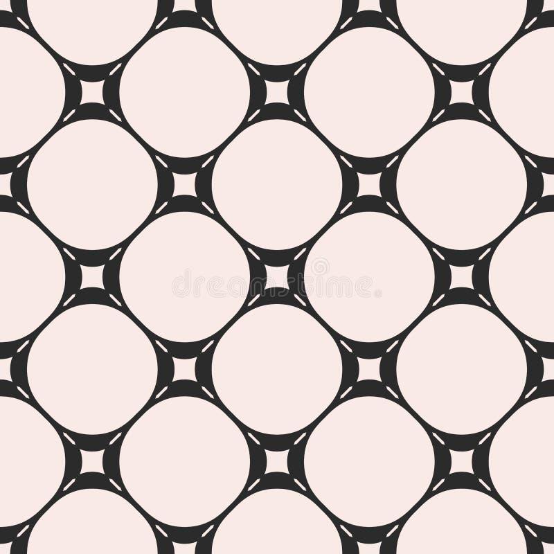 Vector el modelo inconsútil, textura geométrica sutil con los círculos, ilustración del vector