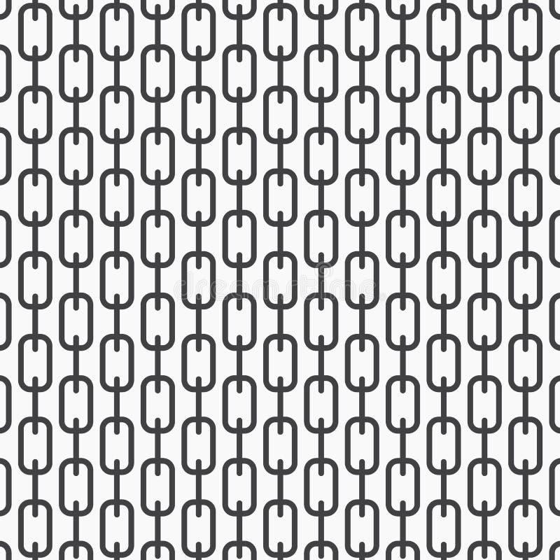 Vector el modelo monocromático, líneas negras de cadena abstractas en el fondo blanco, cadenas verticales sutiles Elemento del di libre illustration