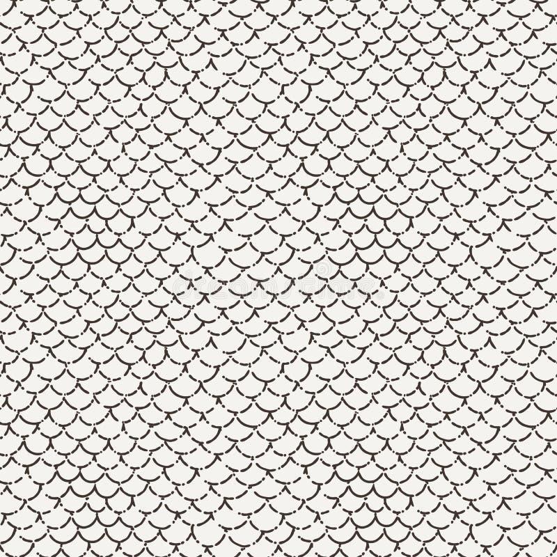 Vector el modelo ondulado inconsútil abstracto en estilo de la escala de pescados ilustración del vector