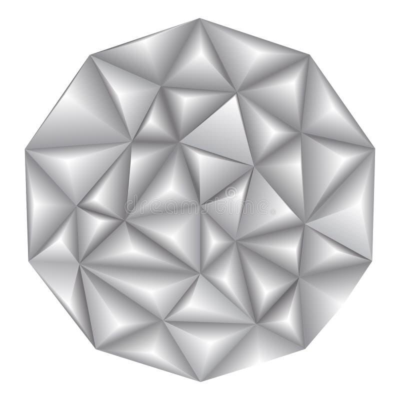 Vector el modelo poligonal geométrico abstracto del triángulo 3d del ejemplo ilustración del vector