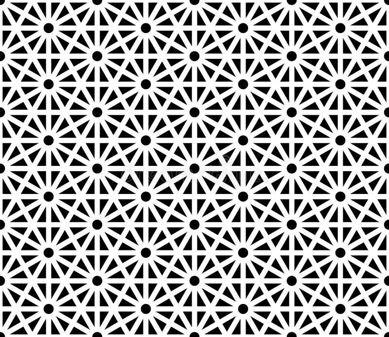 Vector el modelo sagrado inconsútil moderno de la geometría, extracto blanco y negro stock de ilustración